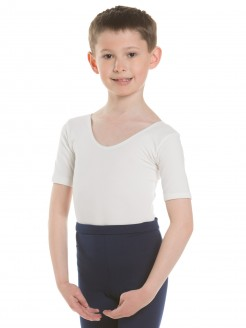 1st Position Boys Short Sleeved Leotard