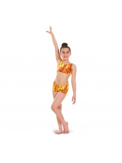 1st Position Hot Pant Flame Print