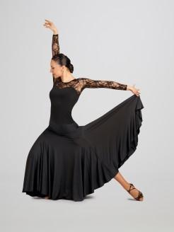 Capezio Dancesport Long Sleeved Lace Top - Main