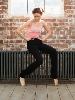 Intermezzo Roll Top Long Knit Leggings (Acrylic)