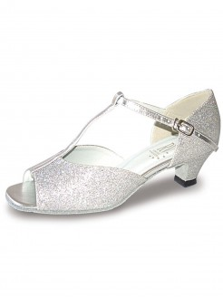 Roch Valley Aduo Ballroom Glitter Shoe with T-Bar Straps 1.5 inch Spanish Heel