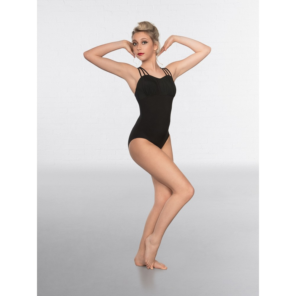1st Position Lattice back and Mesh Bust Fashion Leotard Black - Free ... aa73691e9