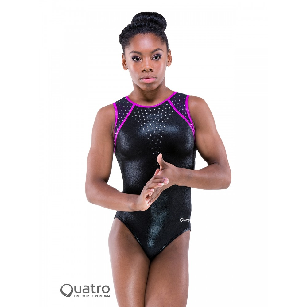 48f6add6a Quatro Gymnastics Short Sleeve Leotard - Free UK Delivery ...