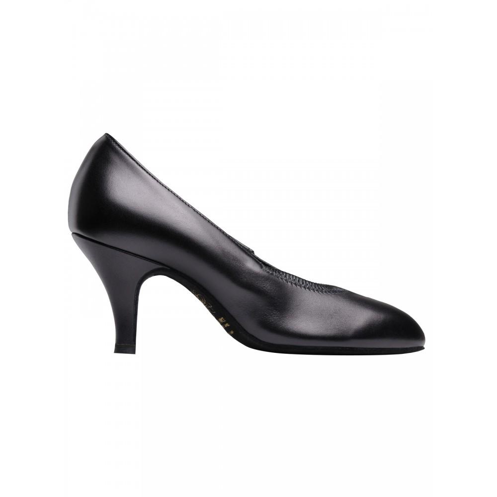 64c92bd21 Supadance Round Toe Elasticated Leather Court Shoe - Free UK ...