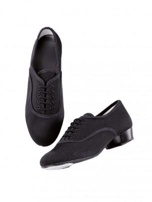 1st Position Boys Canvas L/H Oxford Tap Shoes - Main