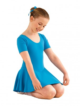 1st Position Hannah Skirted Leotard Cotton - Marine