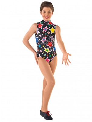 1st Position Jill Star Print Leotard - Star Print