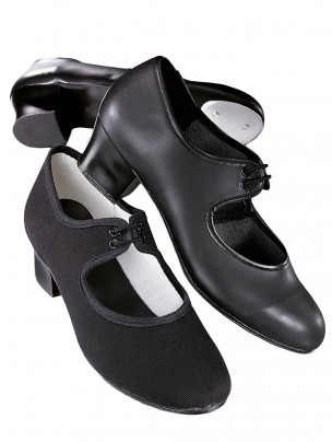 1st Position Leather Cuban Heel Tap Shoes - Main