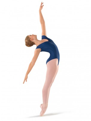 1st Position Pro Evie Cap Sleeve New Ruche Leotard - Indigo