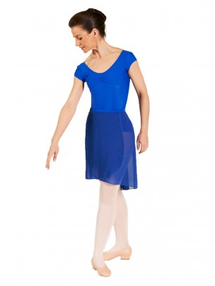 1st Position Pro Wrap Voile Skirt - Adults - Sapphire