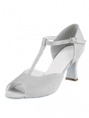 1st Position Silver Glitter Cabaret Shoes - Silver