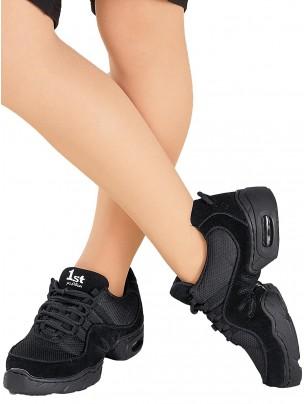 1st Position Split Sole Dance Sneakers - Black