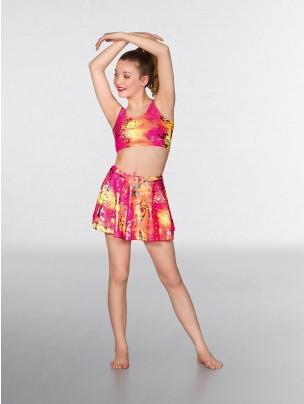 1st Position Circular Skirt Neon Hologram (pink)