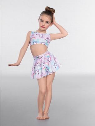 1st Position Unicorn Print Circular Skirt