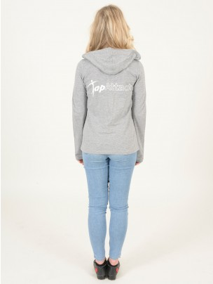Tap Attack Long Sleeved Fineweight Hooded T-Shirt - Grey