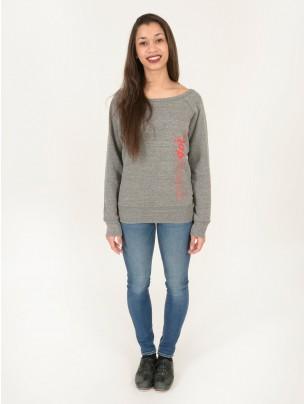 Tap Attack Triblend Slouchy Wideneck Sweatshirt - Grey