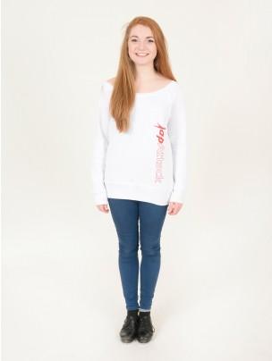 Tap Attack Triblend Slouchy Wideneck Sweatshirt - White