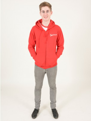 Tap Attack Zip Up Hoodie - Red