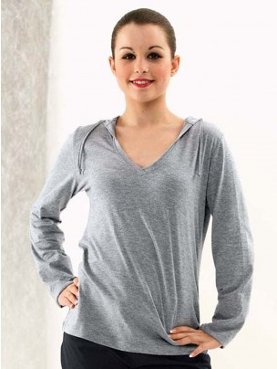 Long Sleeved Fineweight Hooded T-Shirt