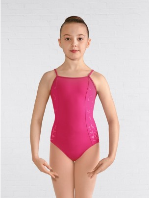 Bloch Printed Open Bow Back Cami Leotard