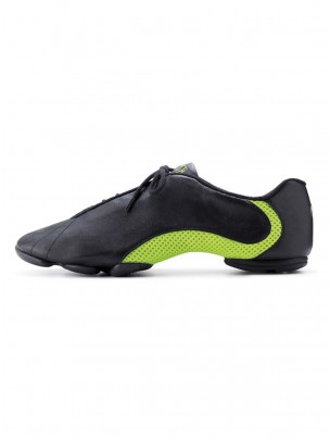 Bloch Amalgam Leather Jazz Sneakers - Black/Green