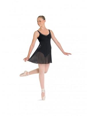 Bloch Emerge Ladies Panelled Black Mesh Dress - Main