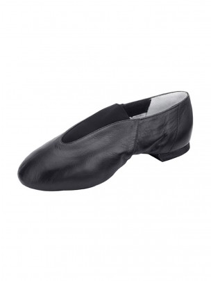 Bloch Pure Jazz Pull On Split Sole Shoes - Black - Main