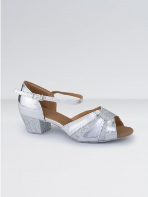 1st Position PU Low Heeled Glitter Ballroom Shoes