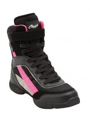 Capezio Battle Boot - Black/Hot Pink