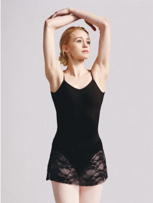 Capezio Vintage Whisper Lace Camisole Skirted Leotard