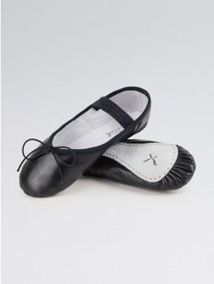 Capezio Daisy Ballet Shoes Black Leather Narrow