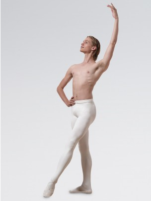Capezio Men's Knit Footed Tights With Back Seams