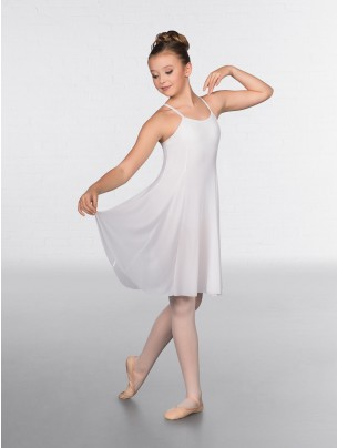 1st Position Leotard with Panelled Mesh Dress Overlay