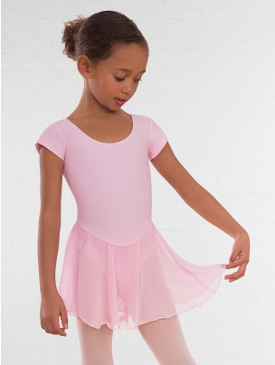 1st Position Value Voile Skirted Cap Sleeve Leotard