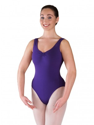 Freed Bethany Ruched Leotard - Purple
