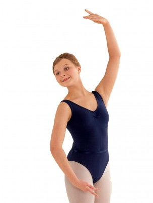 Freed Faith RAD Sleeveless Ruched Front Leotard (III, IV, V) - Navy Blue