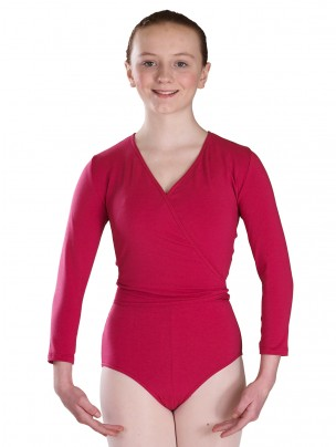 Freed Polycotton Lycra Cross Over - Mulberry