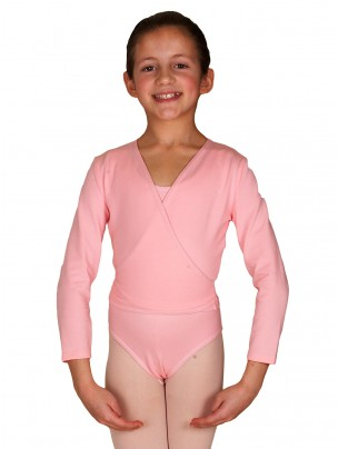 Freed Polycotton Lycra Cross Over - Pale Pink