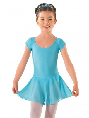ISTD Ballet Pre Primary, Primary -Grade 1 Voile Skirted Cap Sleeve Leotard - Main