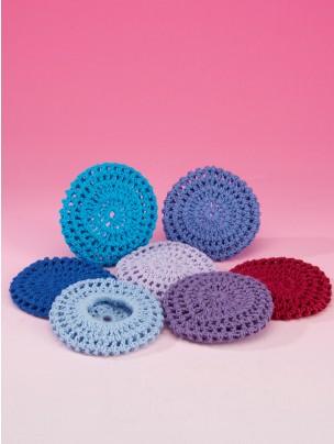 Katz Cotton Crochet Bun Net Large - Royal Blue