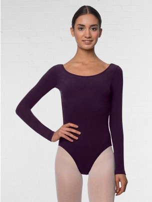 Lulli Long Sleeve Cotton Ballet Leotard Liv