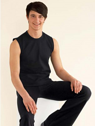 Mens Sleeveless T-Shirt - Black