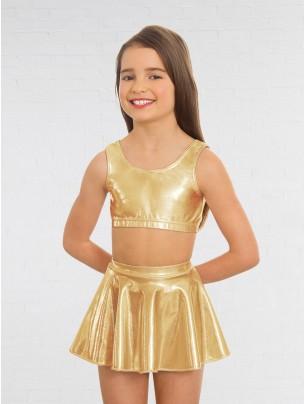 1st Position Metallic Circular Skirt Gold