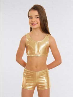 1st Position Metallic Hot Pants Gold