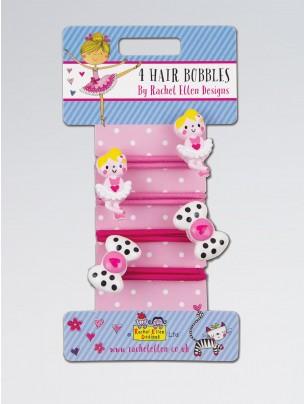 Rachel Ellen Ballerina and Bow Hair Bobbles