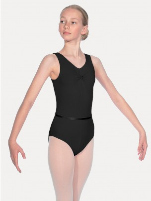 Roch Valley Sleeveless Leotard With Gathered Bustline And Belt