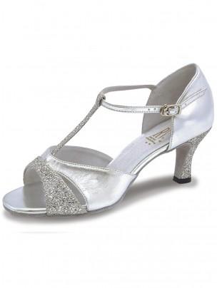 Roch Valley Lucina Ladies Ballroom Glitter Shoe with T-Bar Straps 2.5 inch Slim Flared Heel
