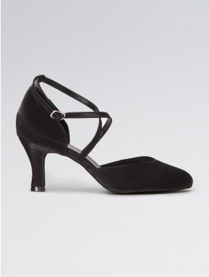 So Danca Satin Closed Toe with Crossed Straps 2.5 inch Heel