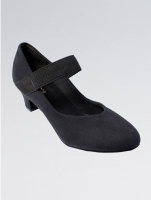 So Danca Suede Upper Elasticated Strap Low Heeled Shoes