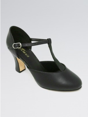So Danca Leather T-Strapped 3 Inches Heel Character Shoes